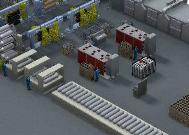 Innovative composite manufacturing automation for production of hydrogen and CNG tanks