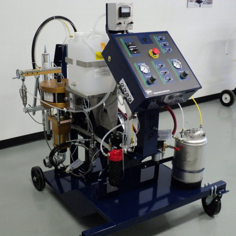 MVPs Patriot Innovator High Volume RTM System used to manufacture domes