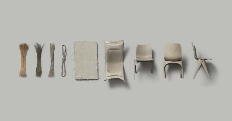Flax Chair by Christien Meindertsma