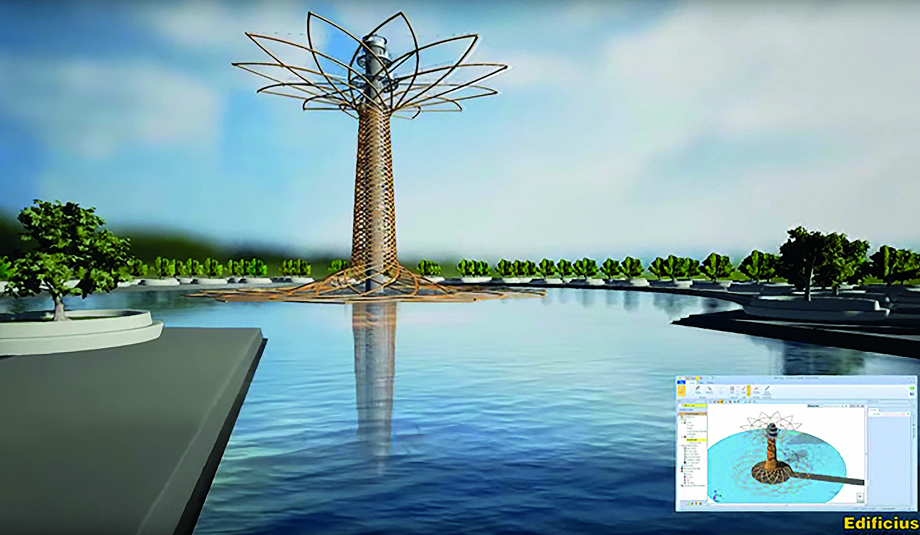 BIM design with Buildingsus, 3D of the Tree of Life – EXPO 2015, architectural design and concept by Marco Balich, Studio Giò Forma