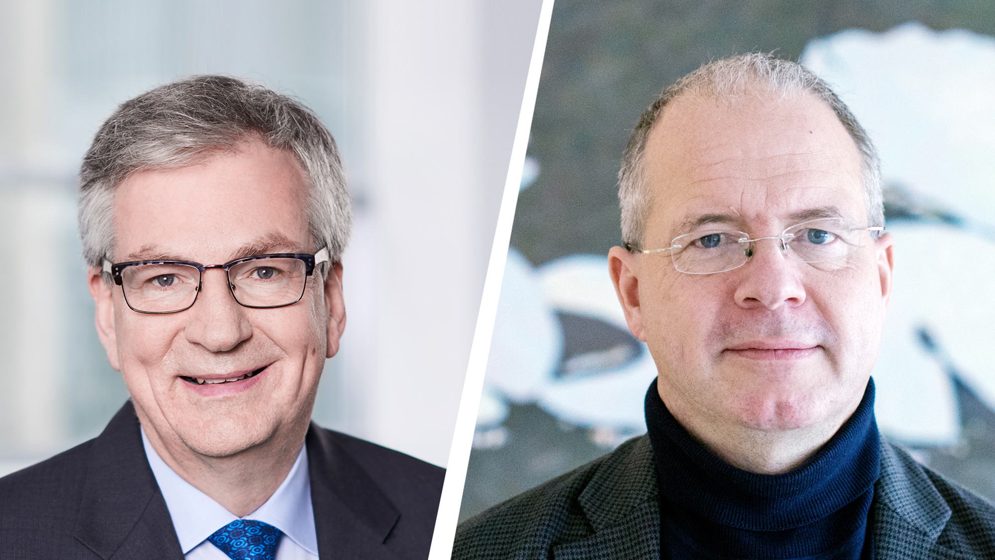 Martin Daum, Chairman of the Board of Management Dai mler Truck AG and Member of the Board of Management of Daimler AG (left) with Martin Lundstedt, Volvo Group President and CEO