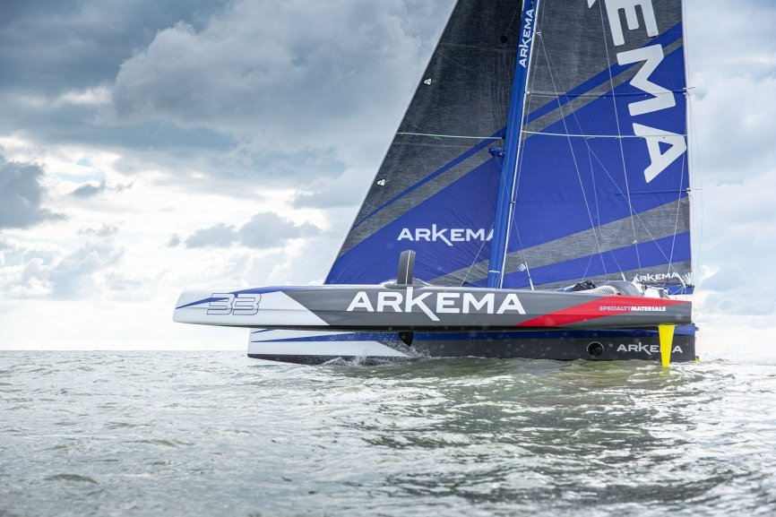 Arkema 4 with the Incidence sails.