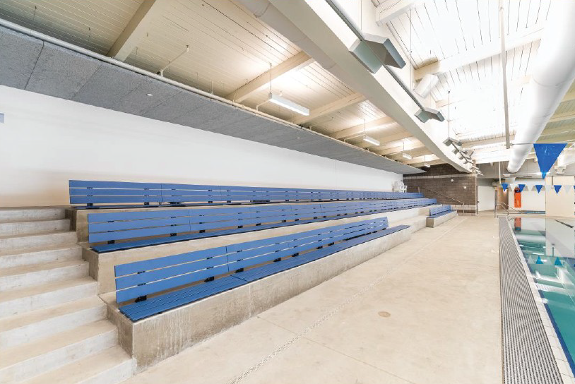 A sports bench made with recycled aerospace grade carbon fiber