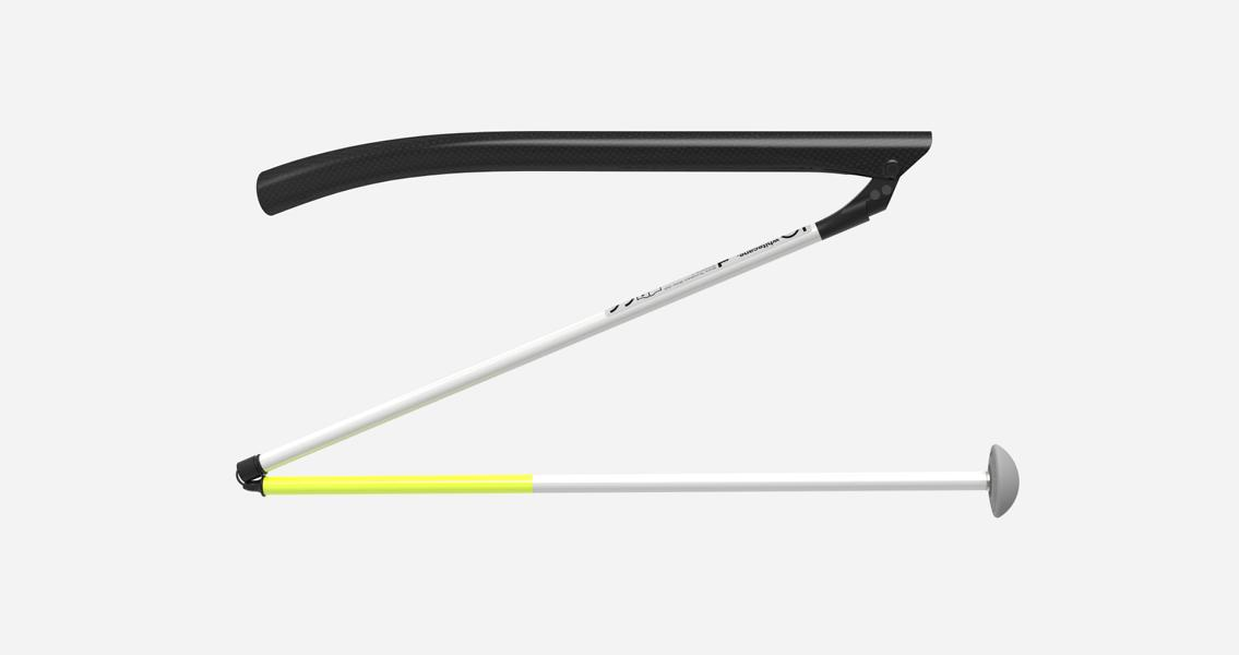 Innovative all composite IO white cane for the visually impaired