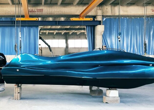 A 3D printed boat made with continuous fiberglass thermoset material