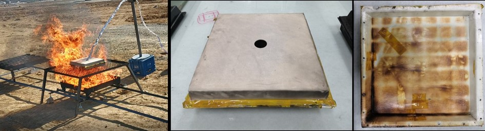 Glass composite material for EV battery case