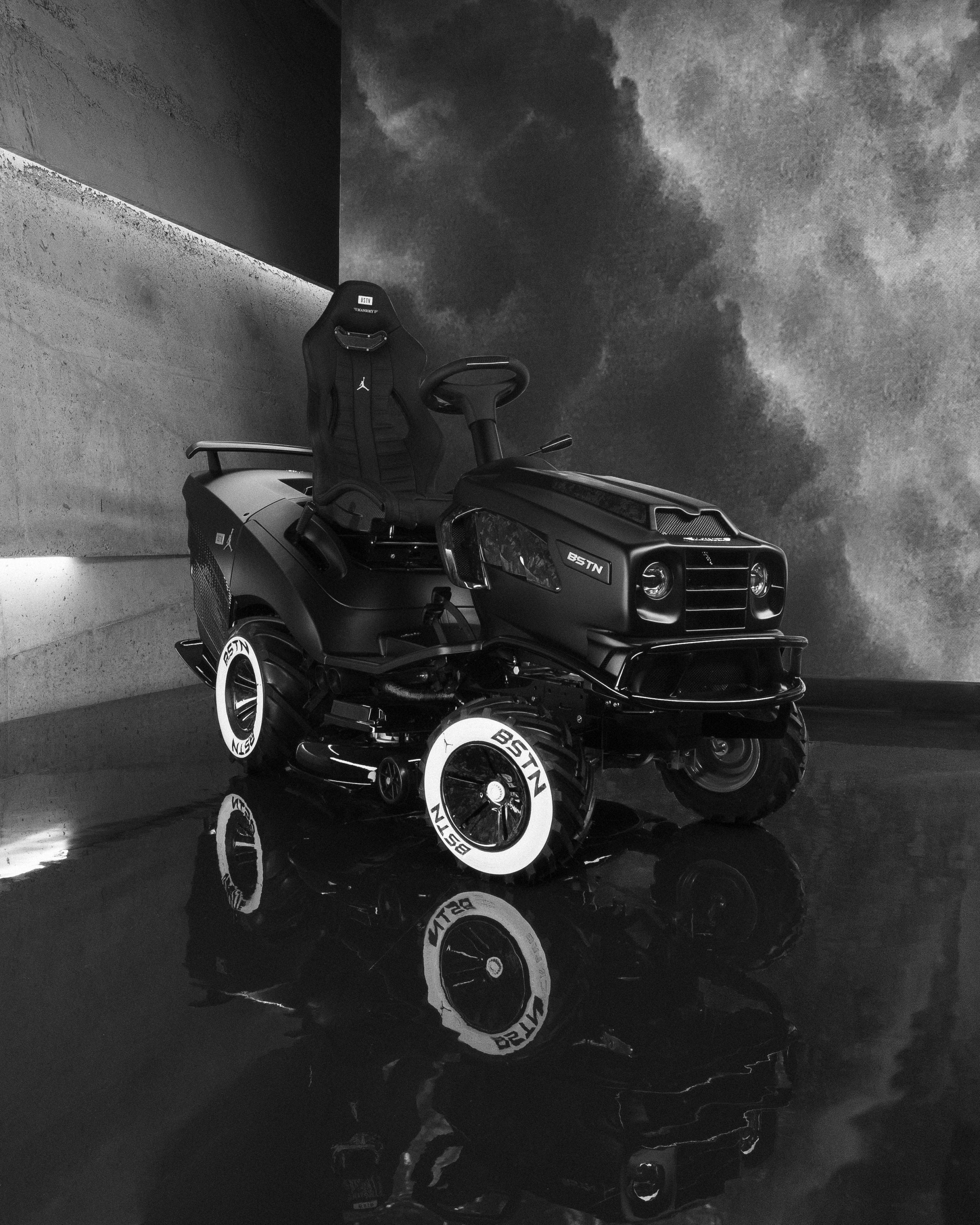 Mansory presents the ride-on lawn mower