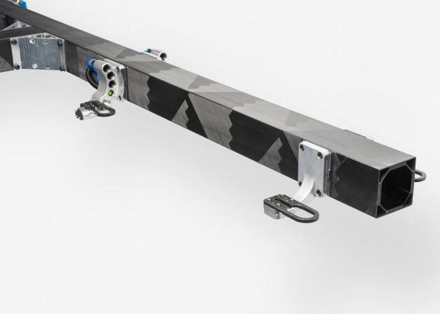 Axial fiber carbon composite beams for industrial automation, handling and machine systems