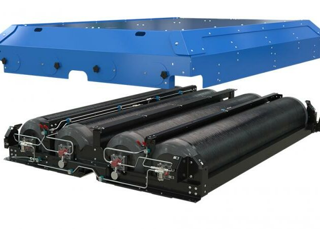 An improved roof mount CNG fuel system
