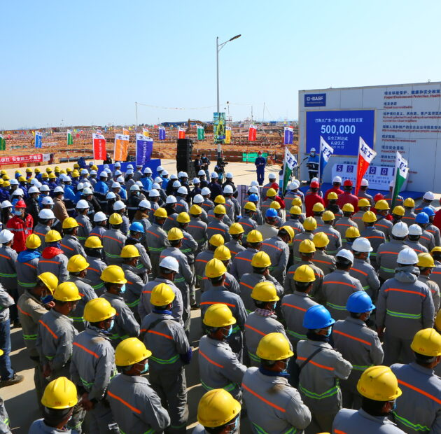 The initial phase of BASF Guangdong Verbund site achieved 500,000 safe working hours