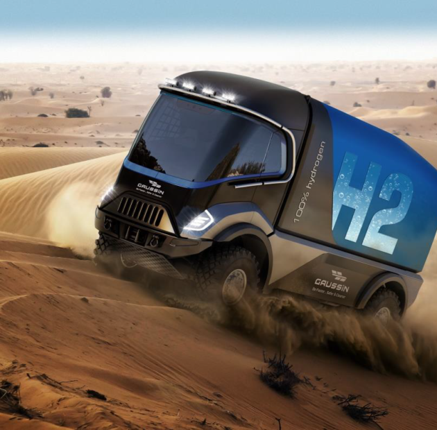 Gaussin will compete in the Dakar Rally with hydrogen-powered trucks