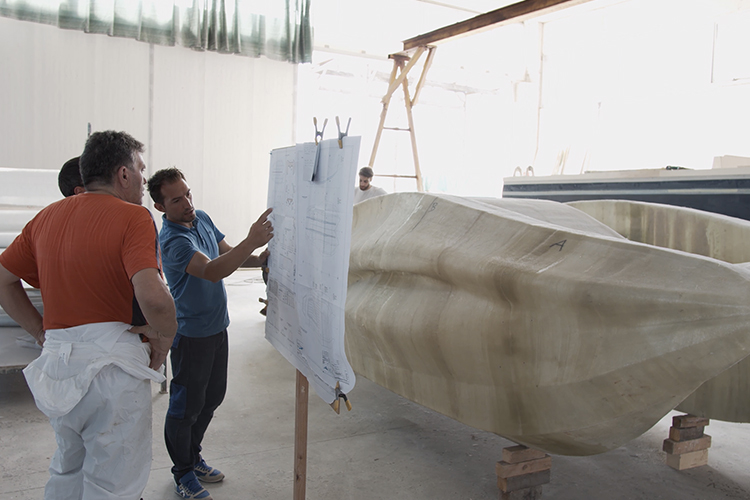 A 3D-printed boat made with a continuous-fibreglass thermoset material