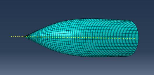 Modélisation numérique de la coiffe en matériaux composites -Crédit : Projet PERSEUS Arts et Métiers Angers