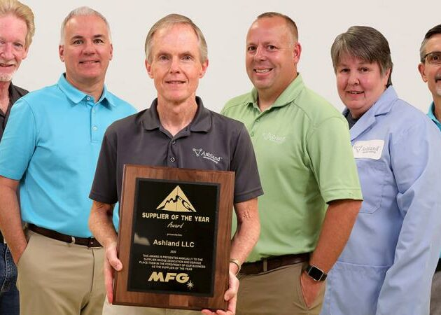 Ashland LLC was honored as MFG's Supplier of the Year