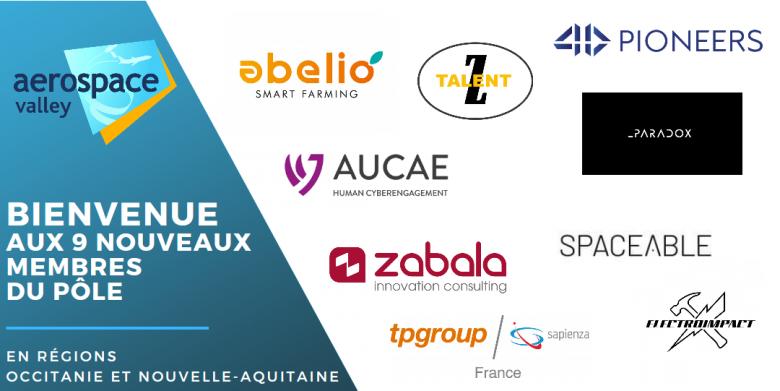 L'Aerospace Valley est rejoint par 9 nouveaux membres en Occitanie & Nouvelle-Aquitaine