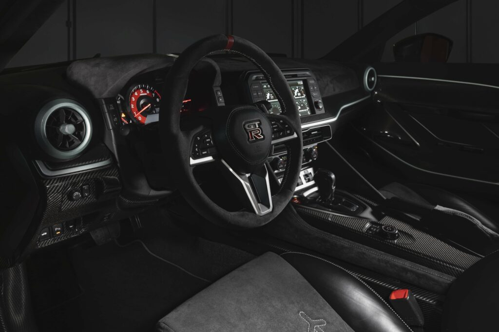 Inside, the Nissan GT-R50 by Italdesign reflects its modern, high-performance pedigree.