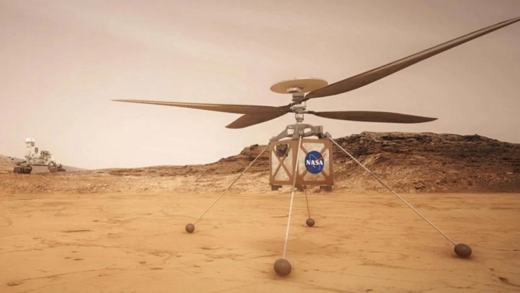 ngenuity Mars Helicopter's Rotor system is made with four specially carbon fiber blades