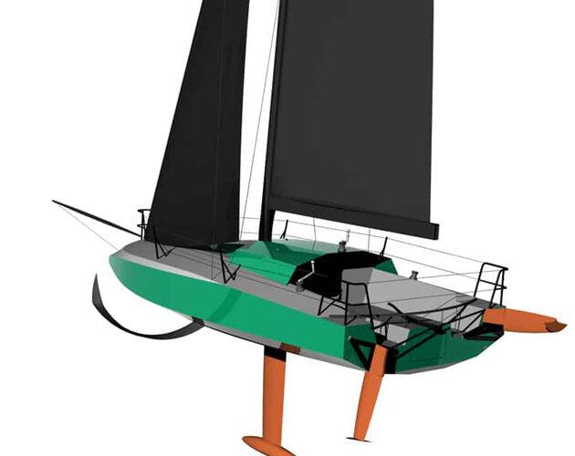 A new bio-based mini 6.5m racing yacht for the mini transat race