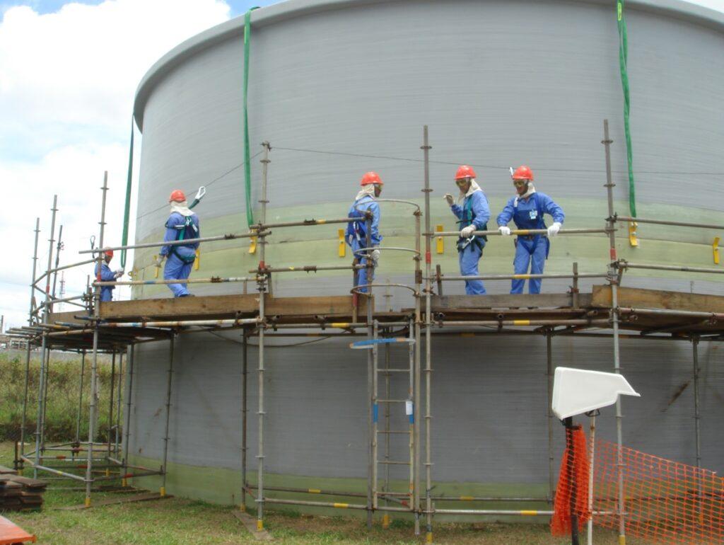 Largest FRP tank in Brazil