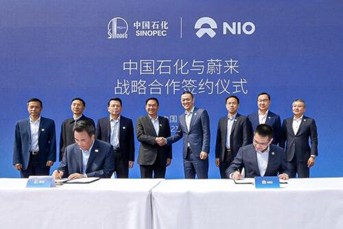 NIO and Sinopec sign a strategic partnership agreement