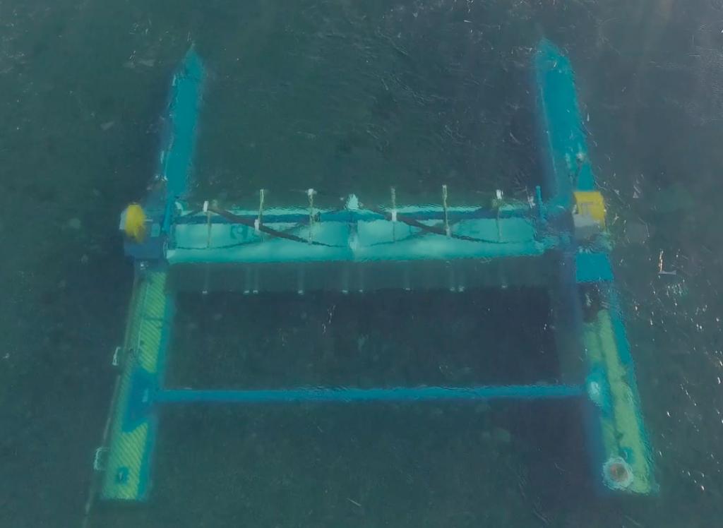 RivGen® device operating in the Kvichak River, April 2020