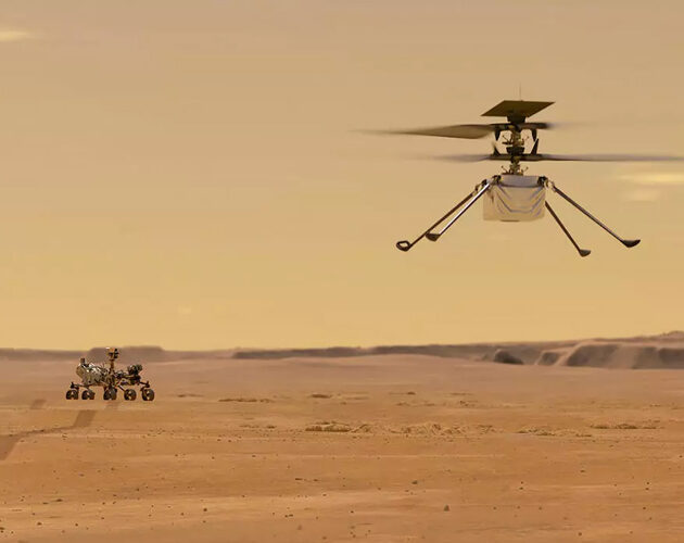 NASA's Ingenuity Mars helicopter succeeds in historic first flight
