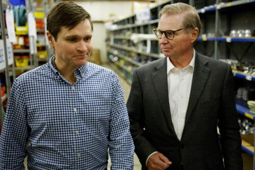 Robert Stevenson, President and CEO & Trevor Stevenson, Vice President, Eastman Machine Company