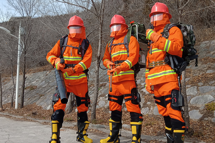 Chinese space firm delivers exoskeleton system to firefighters