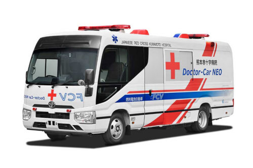 Toyota develops the first fuel cell electric vehicle mobile clinic in partnership with the Japanese Red Cross Kumamoto Hospital