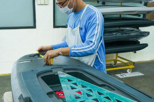 Large-Scale manufacturing platform for Radinn jetboards