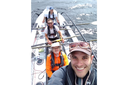 First crew to row non-stop from mainland Europe to mainland South America in a pure class boat