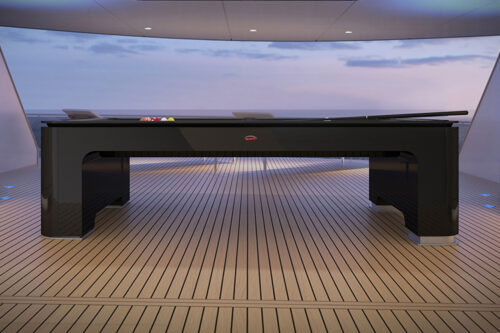 Bugatti reveals carbon fiber pool table