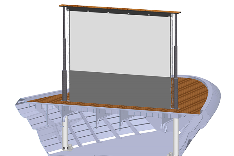 Solico and Structor Engineering join forces to develop unique superyacht cinema screen