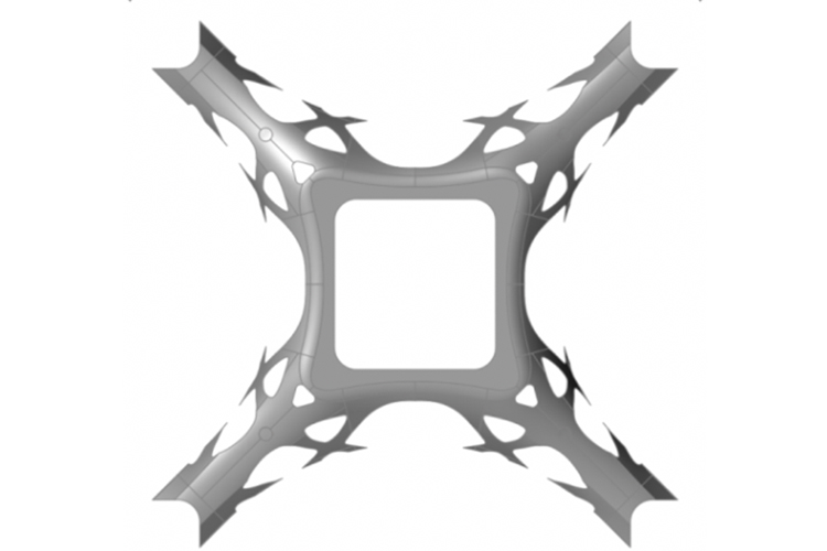 Shape redesigned from the optimization results