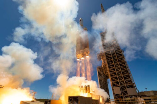 Integrated Northrop Grumman launch vehicle products support the successful launch of a ULA Delta IV Heavy rocket carrying a critical NRO payload on April 26, 2021 from Vandenberg Air Force Base. Photo credit: United Launch Alliance