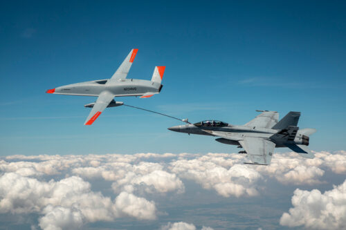 U.S. Navy and Boeing demonstrated air-to-air refueling using an unmanned aircraft