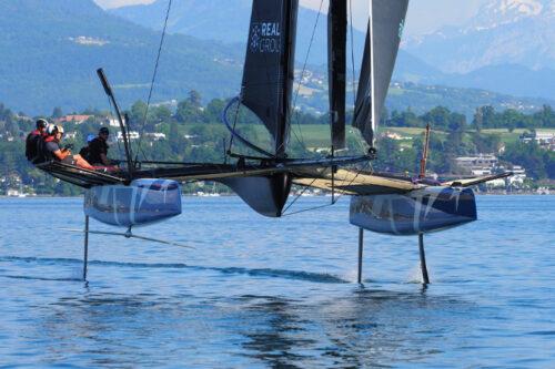 Heol Composites présente le foil en carbone creux monobloc du nouveau catamaran monotype TF35