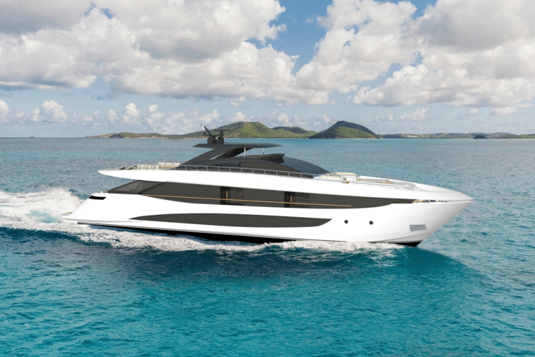 The latest boat under construction is the Flagship Amer 120.