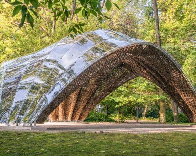 livMats biomimetic Pavilion is now open in the Botanic Garden in Freiburg