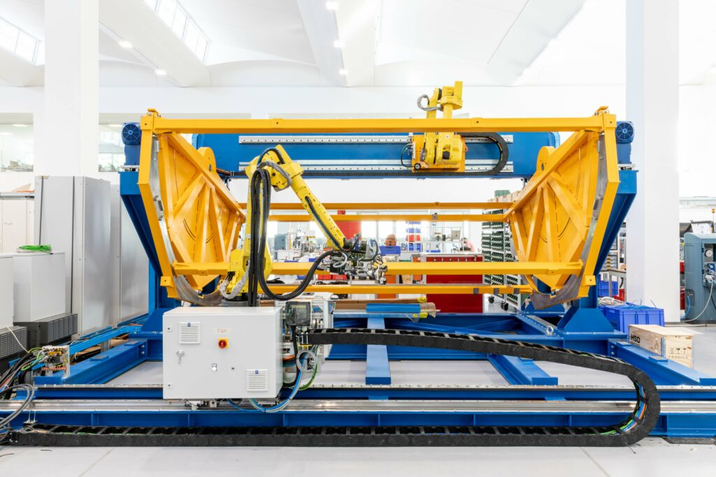 Robotic work cell for regional fuselage panels assembly and control