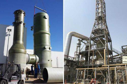 Atlac resins resist corrosion at Saudi petrochemical plant