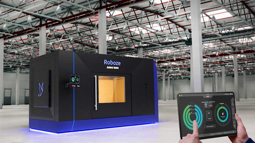 """Rbz_ARGO 1000: """"ARGO 1000: the world's largest 3D printer equipped with a heated chamber for fast production of incredibly strong super polymer and composite parts"""