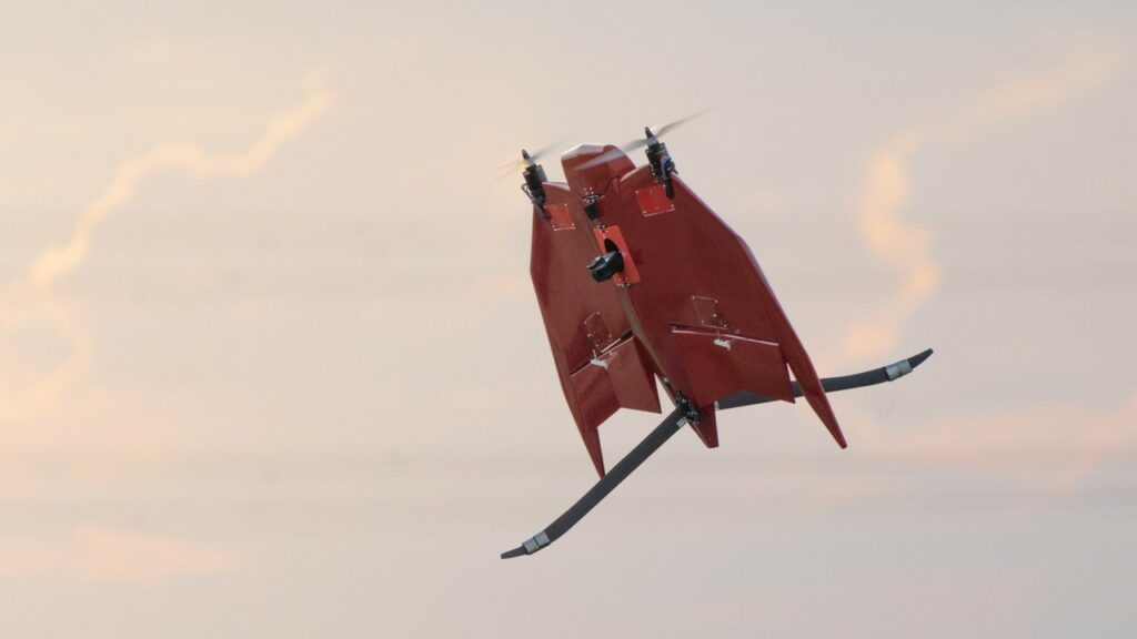 VETAL is a twin rotor, tail sitting, vertical take-off and landing (VTOL) drone that the company has recently launched for large scale agricultural surveys as well as general surveillance monitoring.