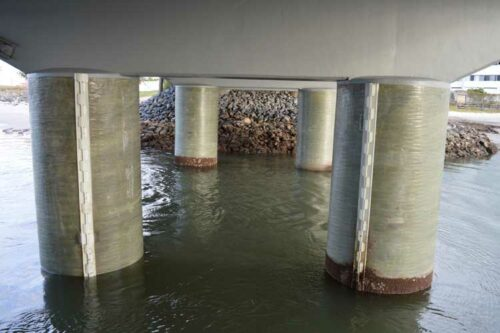 Bridge pier repair using Pilejax