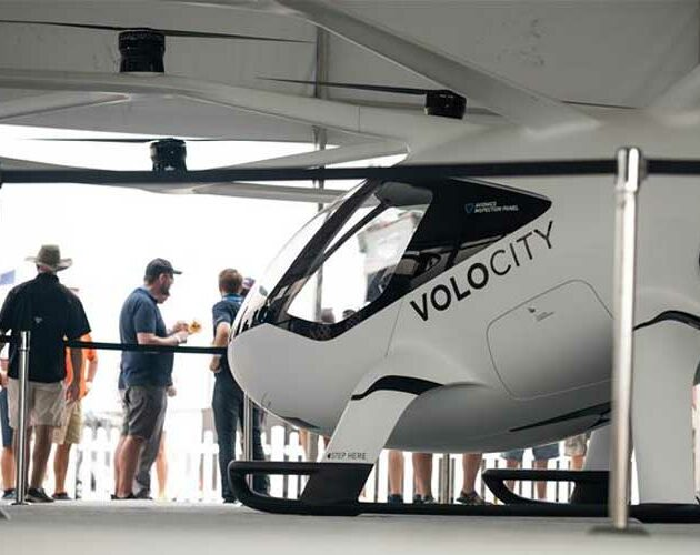 Volocopter takes to the skies at 164 ft and a top speed of 18 mph over Wittman Regional Airport
