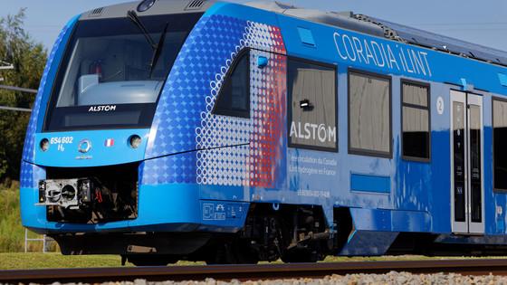 Alstom's Coradia iLint in Valenciennes, France