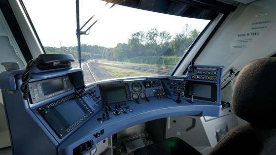 Driver's cabin of Alstom's Coradia iLint