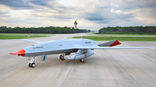 MQ-25TM StingrayTM, the Navy's first operational, carrier-based unmanned aircraft.