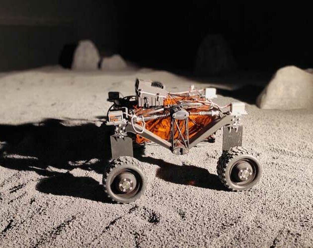 Lunar rover vehicle powered by continuous fiber reinforced composites