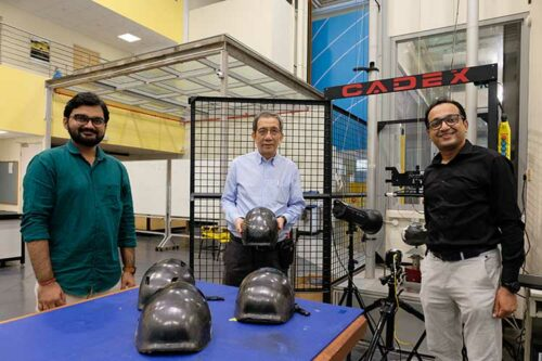Safer bicycle helmets using new plastic material